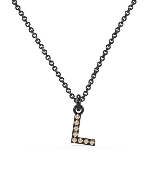 collar identity oro negro diamantes marrones L rosich