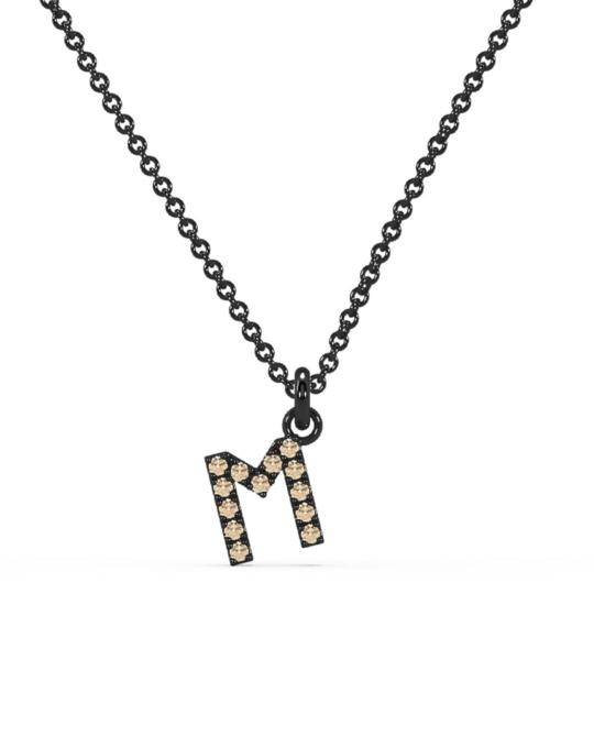 collar identity oro negro diamantes marrones M rosich