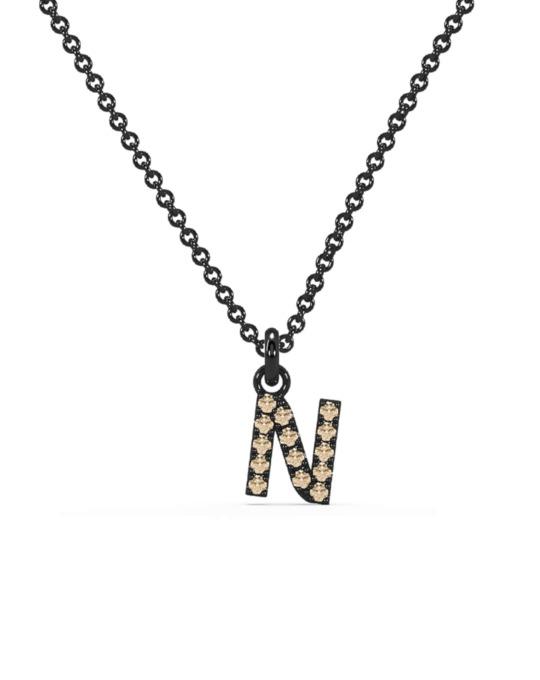 collar identity oro negro diamantes marrones N rosich