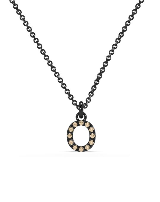 collar identity oro negro diamantes marrones O rosich