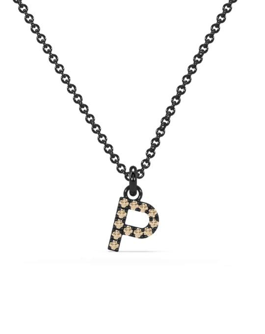 collar identity oro negro diamantes marrones P rosich