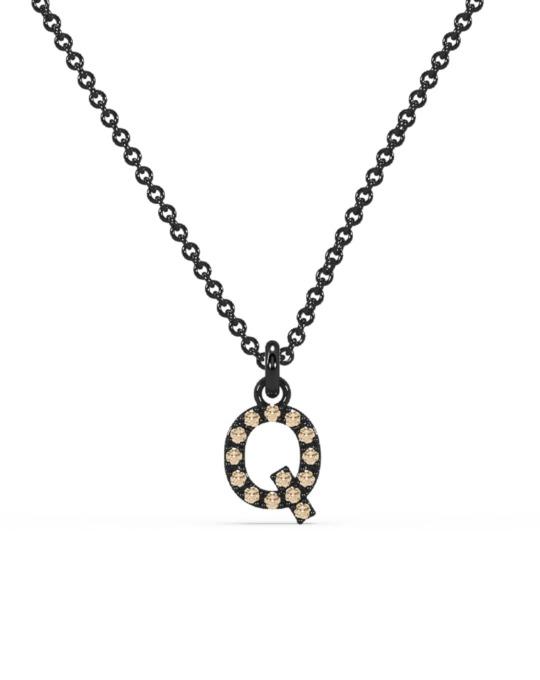 collar identity oro negro diamantes marrones Q rosich