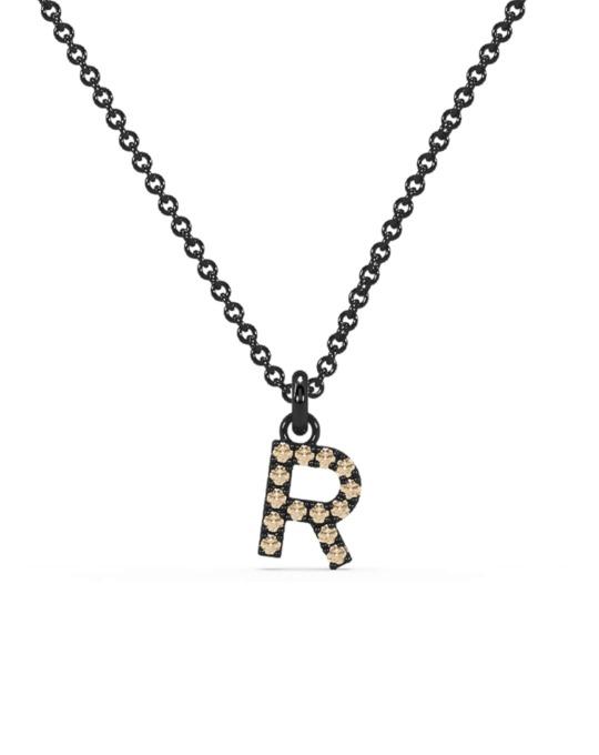 collar identity oro negro diamantes marrones R rosich
