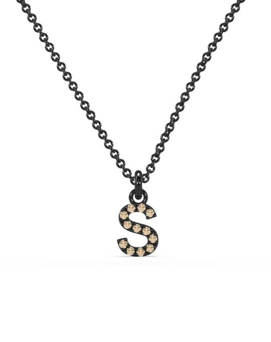 collar identity oro negro diamantes marrones S rosich