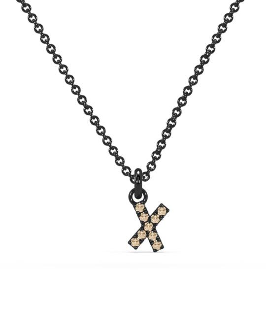 collar identity oro  negro diamantes blancos X rosich