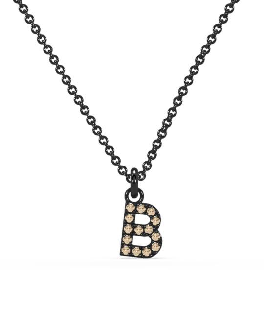 collar identity oro negro diamantes marrones rosich