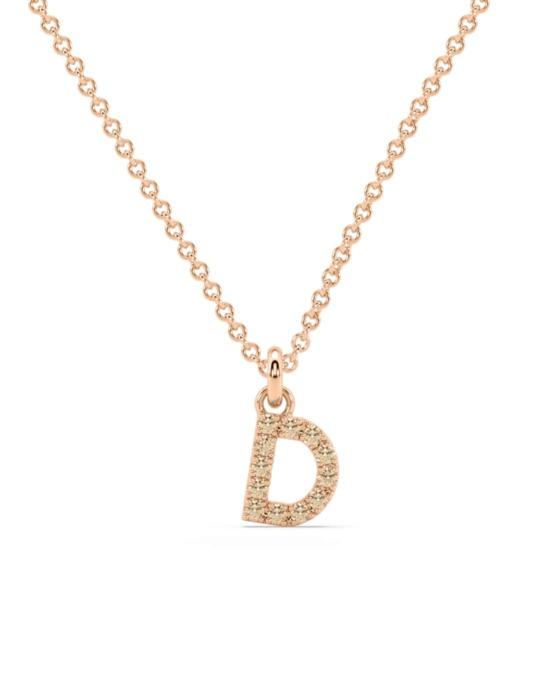 collar identity oro rosa diamantes marrones D rosich