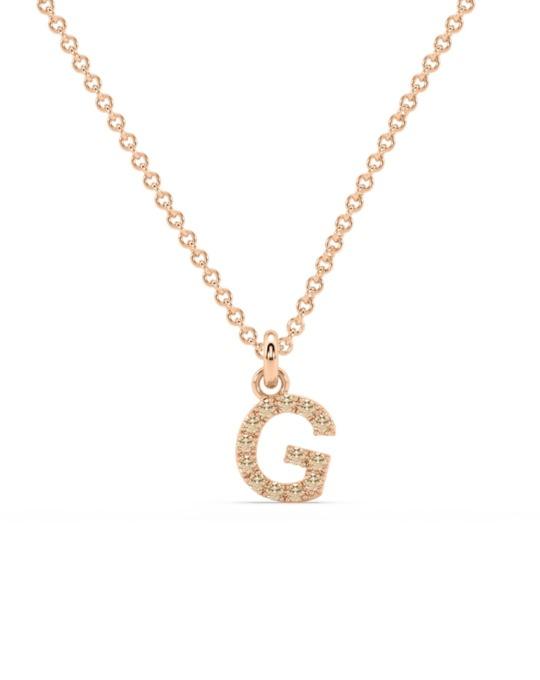 collar identity oro rosa diamantes marrones G rosich