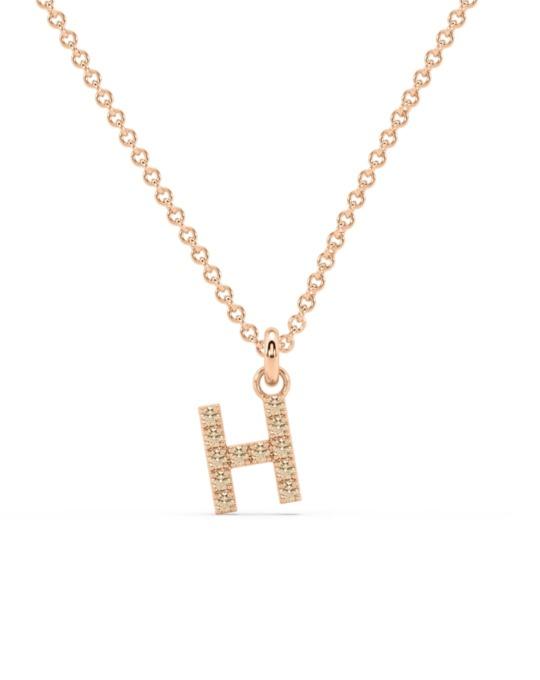 collar identity oro rosa diamantes marrones H rosich