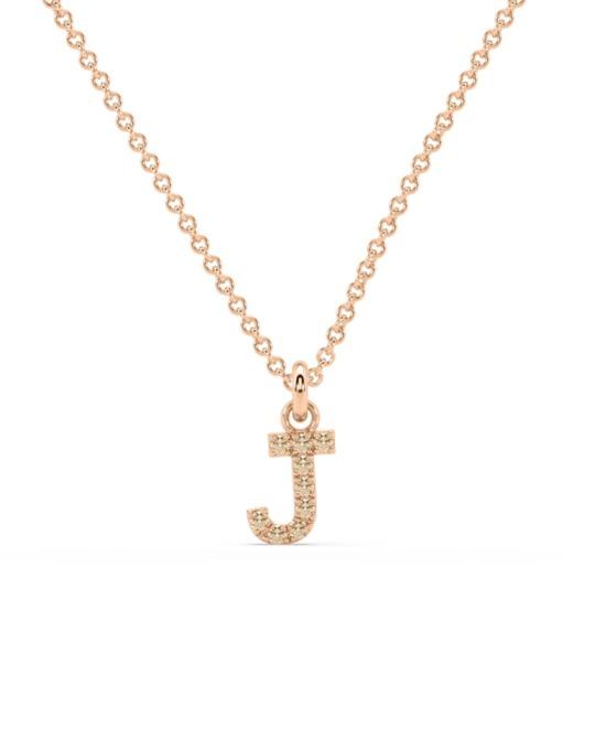 collar identity oro rosa diamantes marrones J rosich