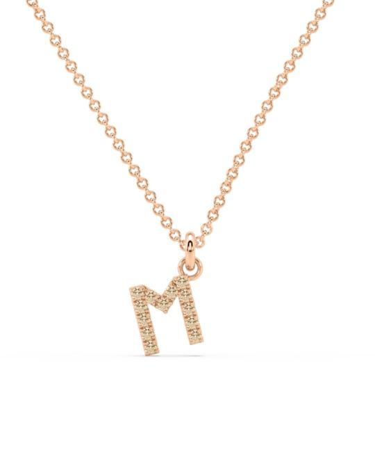 collar identity oro rosa diamantes marrones M rosich