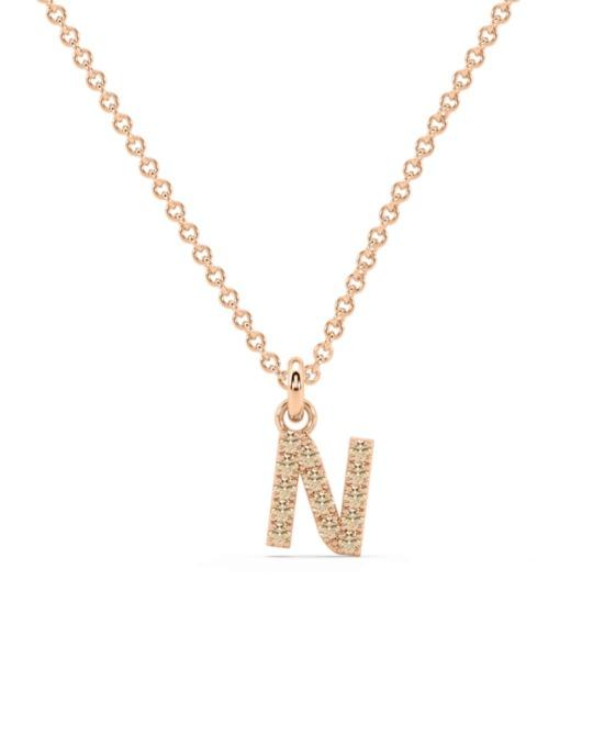 collar identity oro rosa diamantes marrones N rosich