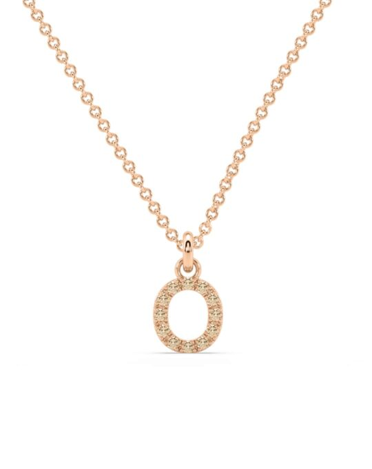 collar identity oro rosa diamantes marrones O rosich