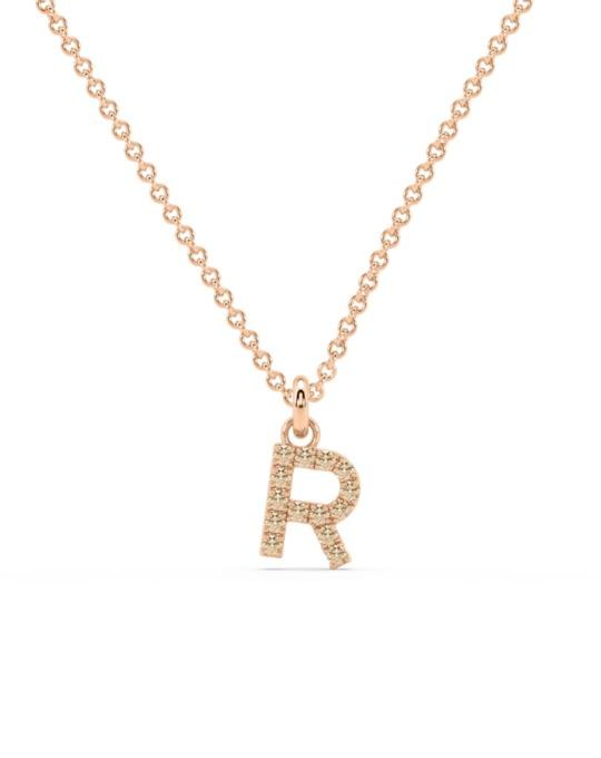 collar identity oro rosa diamantes marrones R rosich