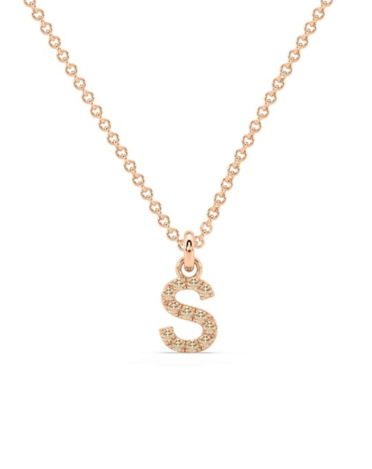 collar identity oro rosa diamantes marrones S rosich