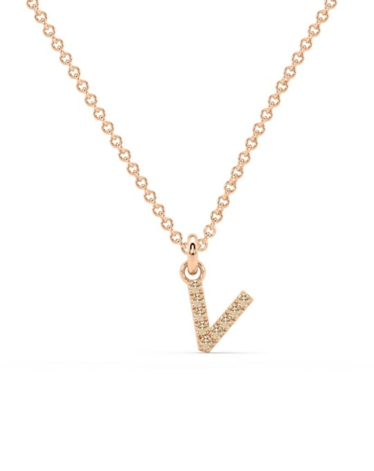 collar identity oro rosa diamantes marrones V rosich