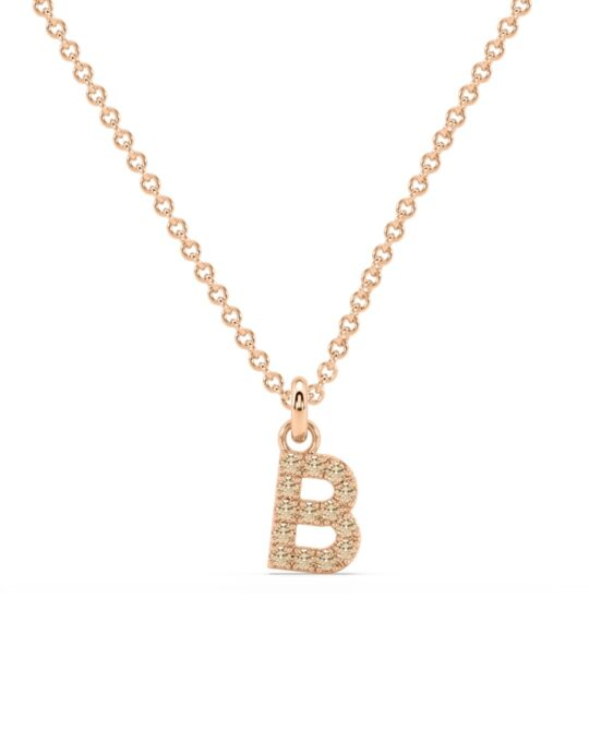 collar identity oro rosa diamantes marrones rosich