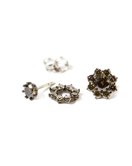 pendientes specials desmontables oro negro diamantes color rosich
